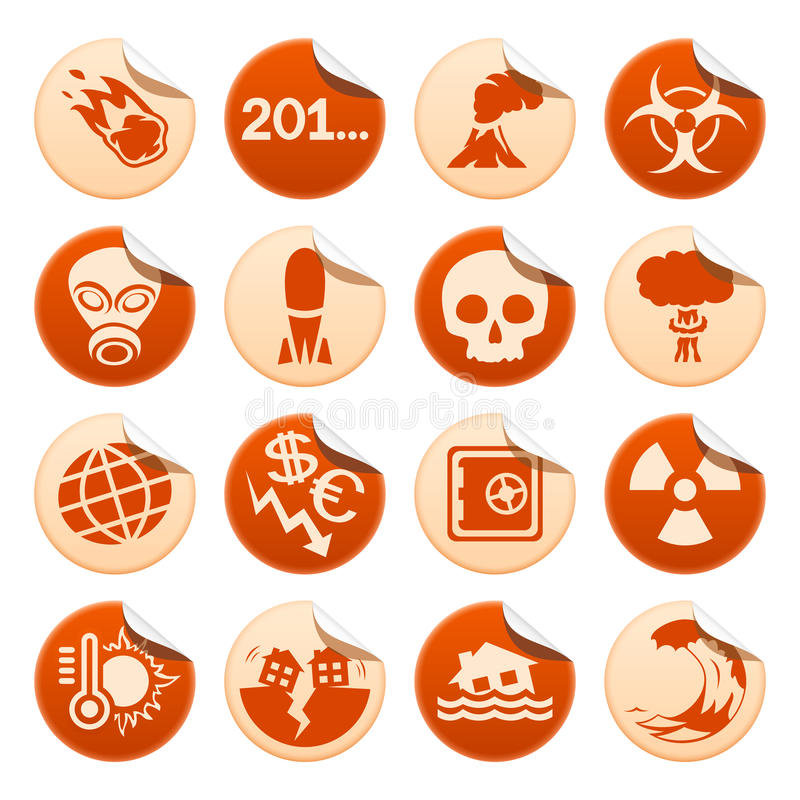 Download Apocalyptic And Natural Disasters Stickers Royalty Free Stock Images - Image: 32050549