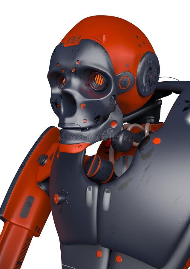Apocalyptic robot royalty free illustration