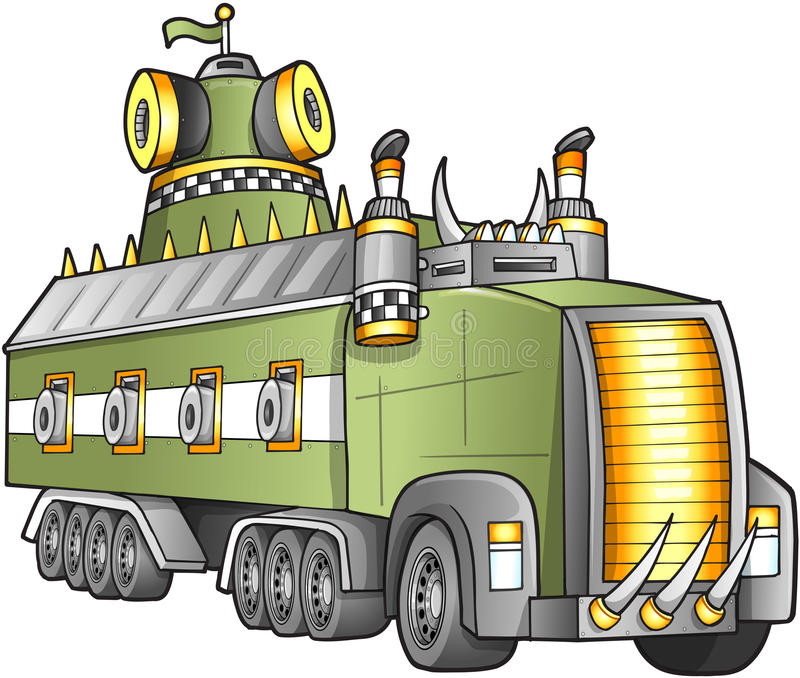 Download Apocalyptic Truck Vector stock vector. Illustration of grill - 27677959