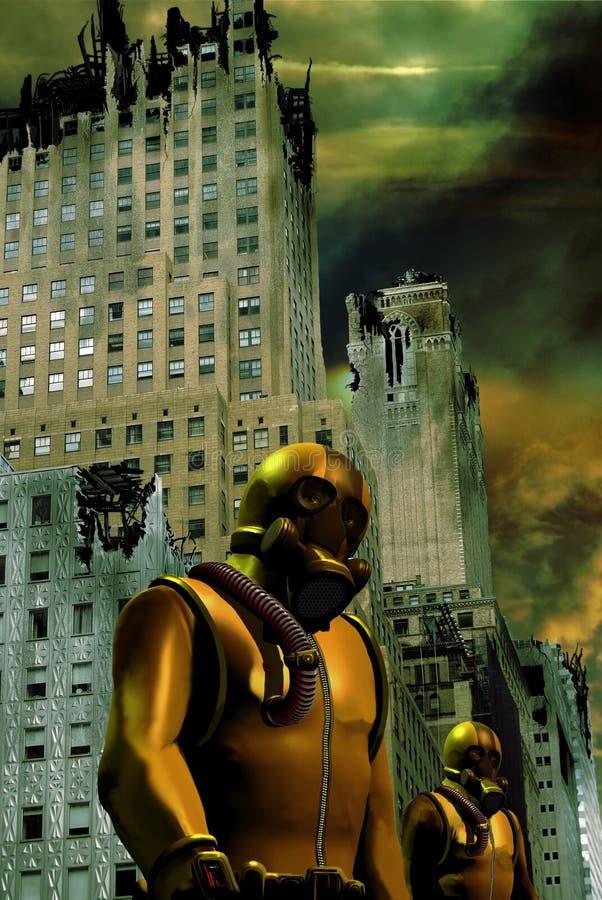 Apocalyptical zniszczenie ilustracja wektor