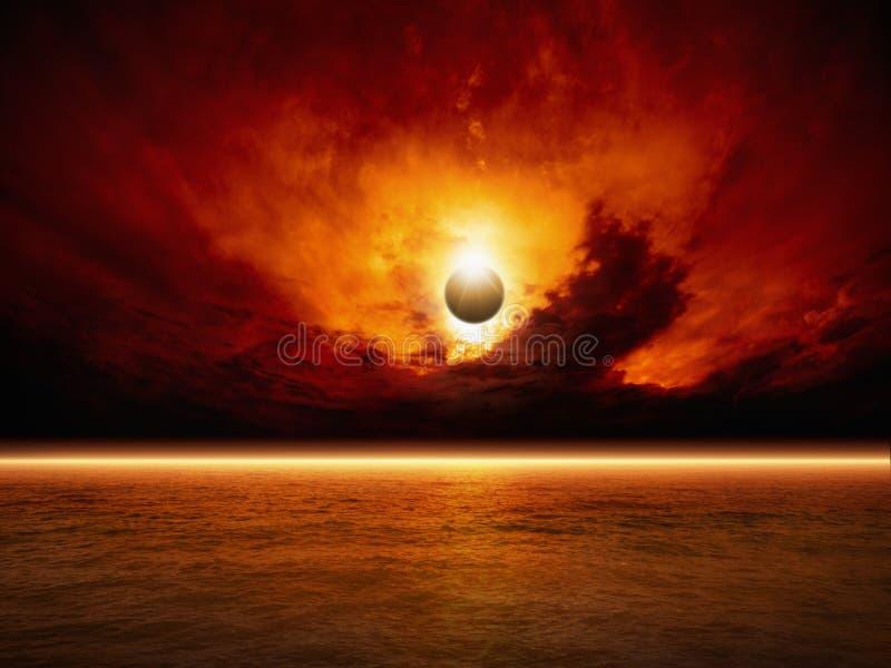 Apocalyptische achtergrond vector illustratie