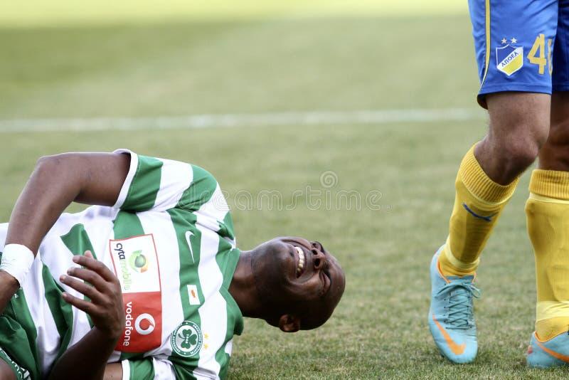 Apoel gegen Omonoia Zypern Fußball lizenzfreie stockfotografie