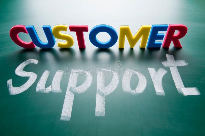 Apoio a o cliente, palavras coloridas ilustração do vetor