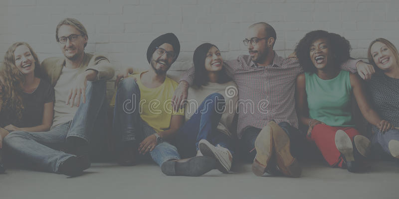 Apoio Team Unity Friendship Concept dos amigos imagem de stock royalty free
