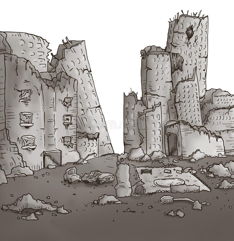 Apokalipsy miasta ilustracja ilustracja wektor