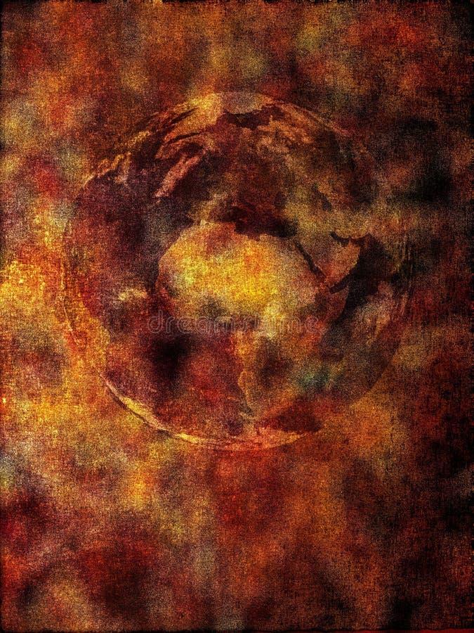apokalypsbakgrund stock illustrationer