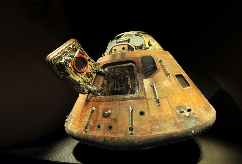 Apollo 13 LEM Capsule. Displayed at NASA, Kennedy Space Center in Florida, December 28, 2010 stock photo