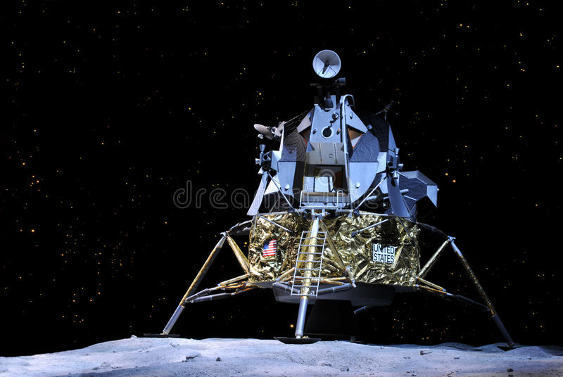 Apollo 17 Lunar Module. Prototype of the Apollo 17 landing on the moon displayed at NASA, Kennedy Space Center in Florida, January 2, 2011 royalty free stock photo