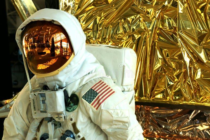Apollo 11 astronautycznego kostiumu zbliżenie zdjęcie stock