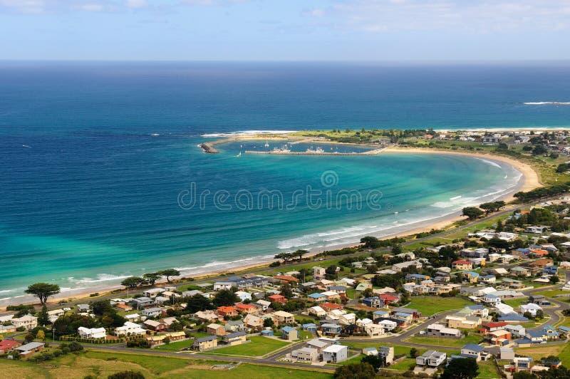Apollo Bay, gran camino del océano, Victoria, Australia fotos de archivo