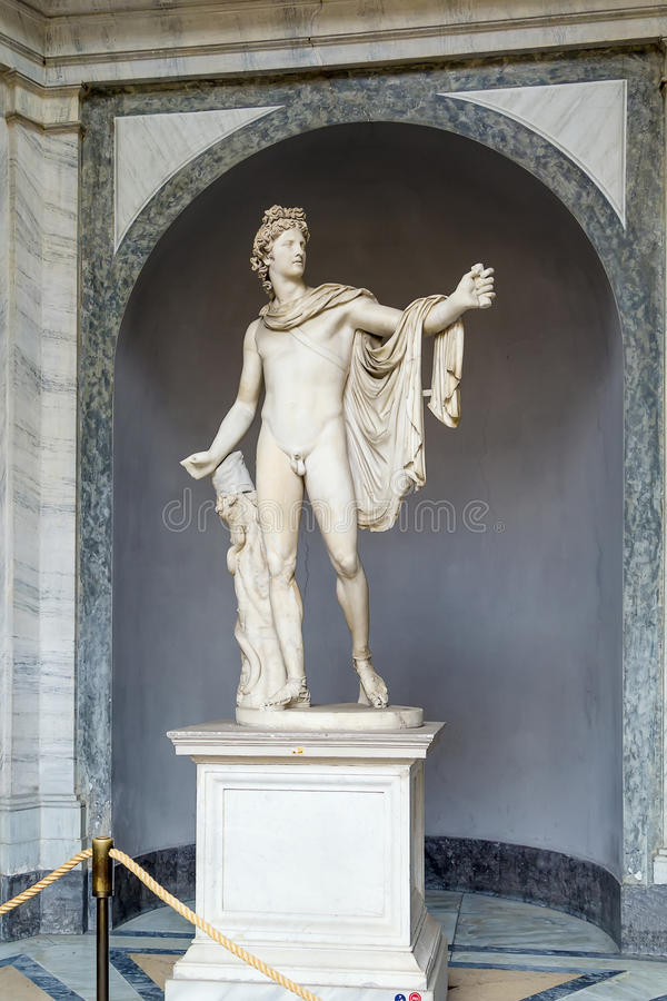 Apollo Belvedere. The Apollo Belvedere or Apollo of the Belvedere is a celebrated marble sculpture from Classical Antiquity stock images