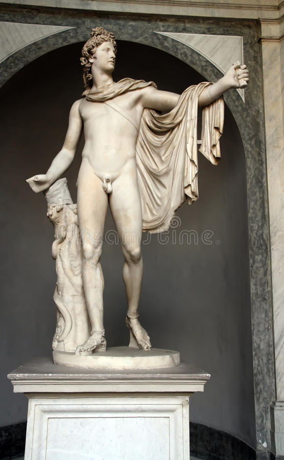 Apollo Belvedere statue royalty free stock photography