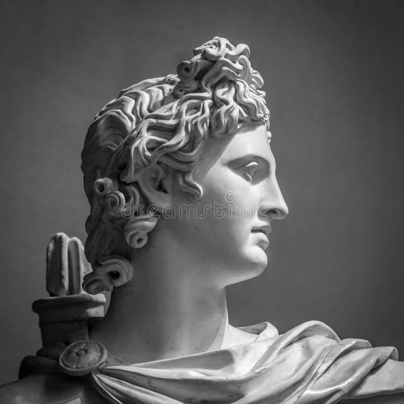Apollo Belvedere statue. stock images