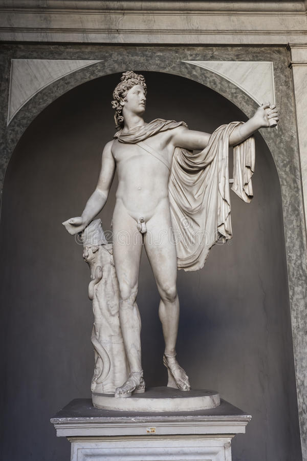 Apollo of the Belvedere Statue - Rome stock photography