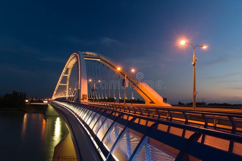 apollo bratislava bro royaltyfria bilder