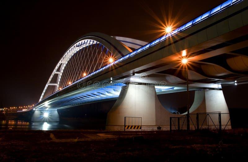 Download Apollo Bridge In Bratislava Stock Image - Image of dusk, city: 12410685