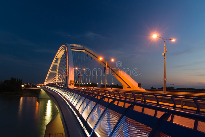 Apollo bridge in Bratislava royalty free stock images