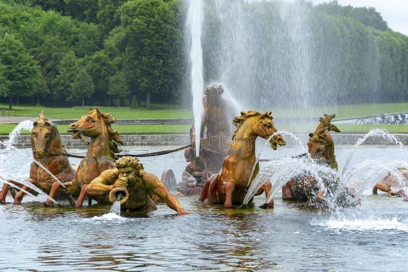 Apollo-Brunnen in Versailles-Park, Paris, Frankreich lizenzfreie stockbilder