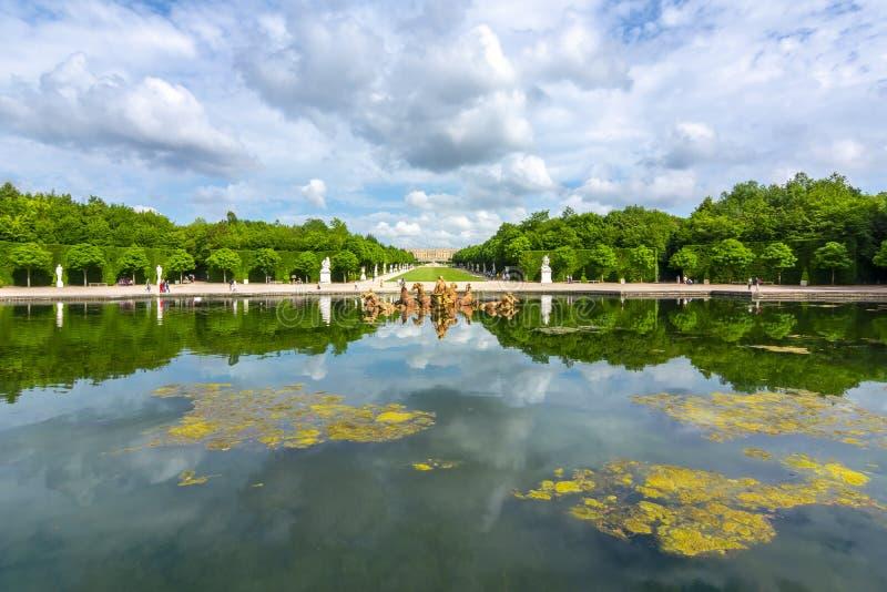 Apollo-Brunnen in Versailles-Park, Paris, Frankreich stockfotografie