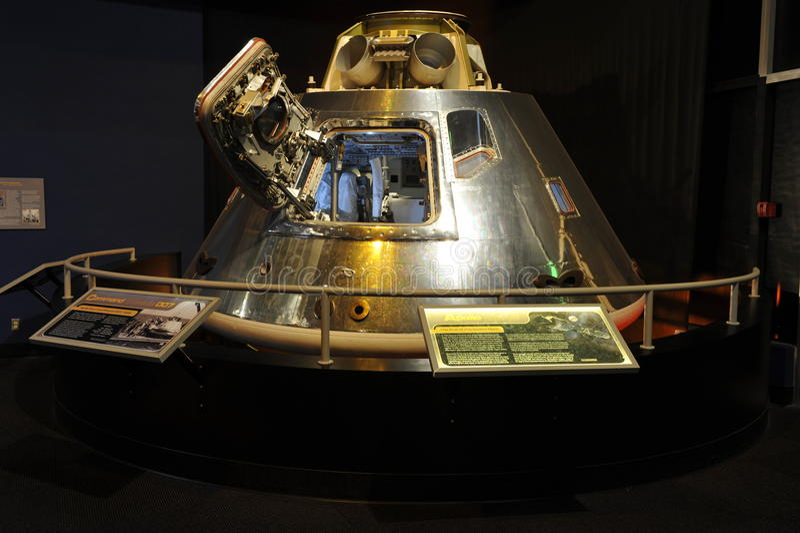 Apollo Capsule. In the Museum of Flight, Seattle, Washington, USA. Citation from the information plate in front of the capsule: The Museum of Flight's Apollo stock photos