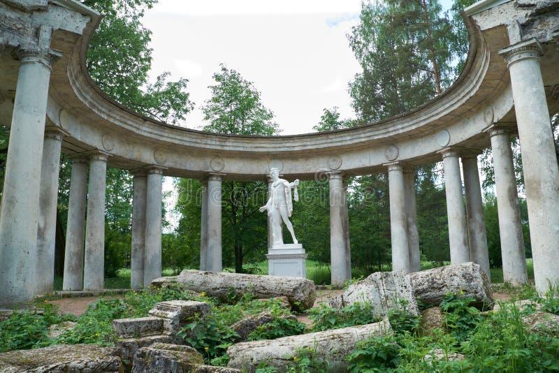 Apollo colonnade in Pavlovsk, St. Petersburg stock photo