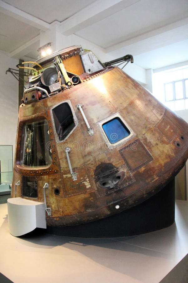 Apollo 11 command module. royalty free stock photo