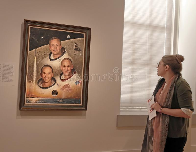 Apollo 11 Crew À La National Portrait Gallery, photographie stock libre de droits