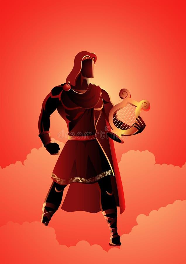 Apollo de God van de muziek stock illustratie