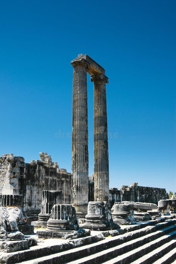 apollo didyma świątyni indyk zdjęcie royalty free