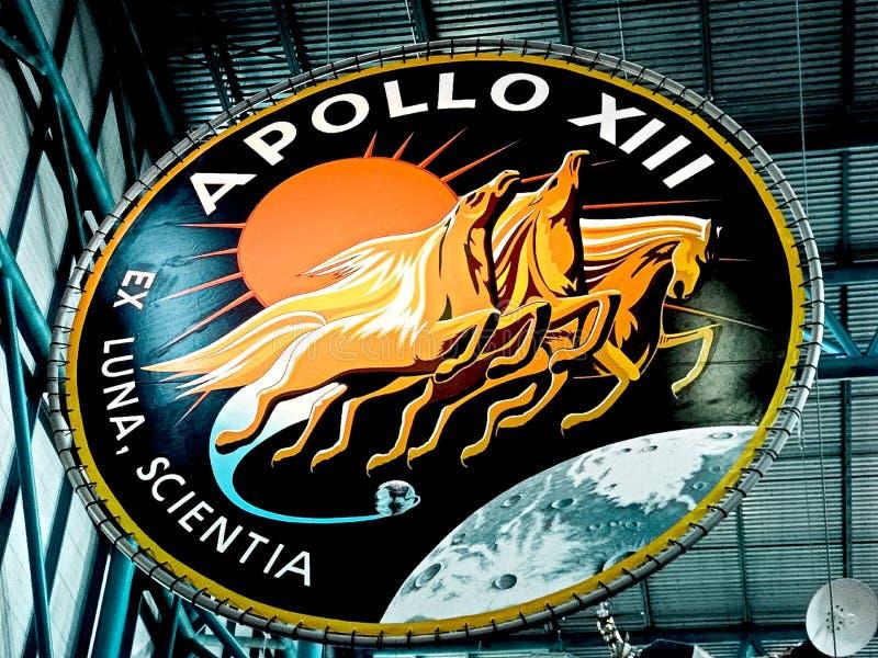 Apollo-embleem in Kennedy Space Center stock afbeelding