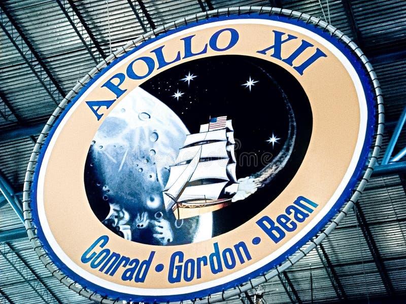 Apollo-embleem in Kennedy Space Center stock foto's