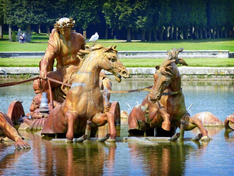Apollo Fountain en el palacio de Versalles fotografía de archivo
