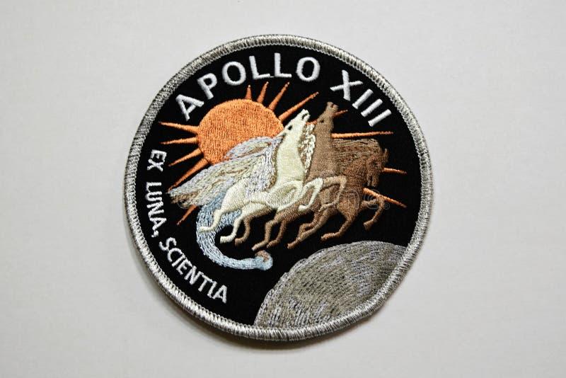 Apollo 13 het flard van de Maanopdracht stock afbeeldingen