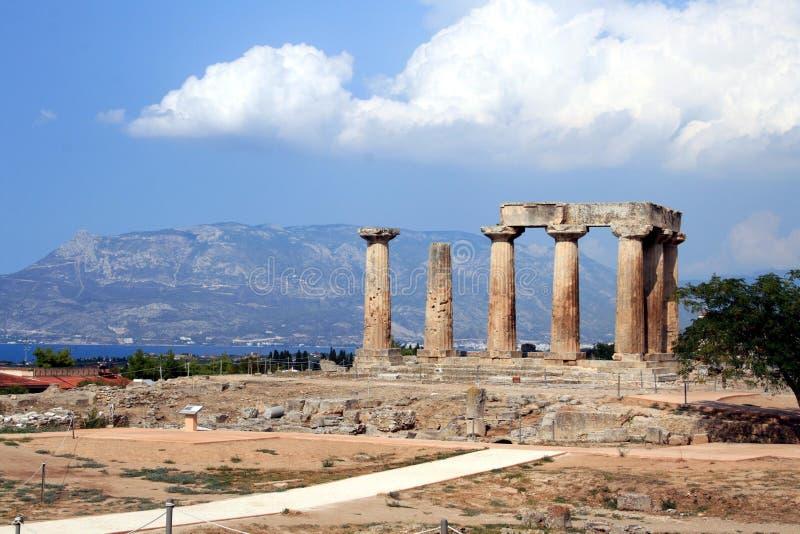 apollo Koryntu świątyni zdjęcia stock