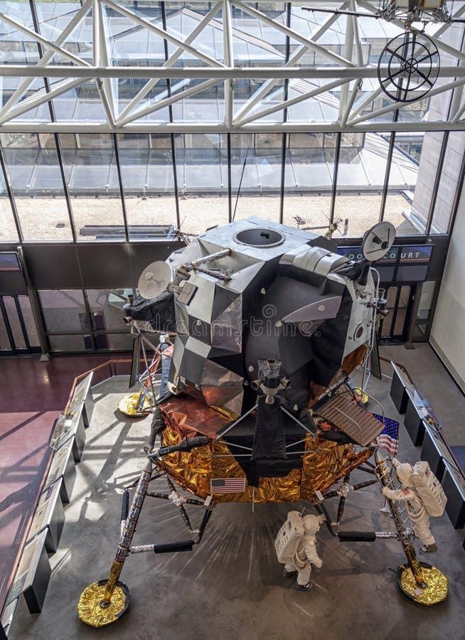 Apollo Księżycowy moduł na pokazie obraz royalty free