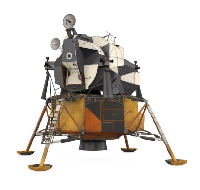 Apollo Lunar Module Isolated illustration stock