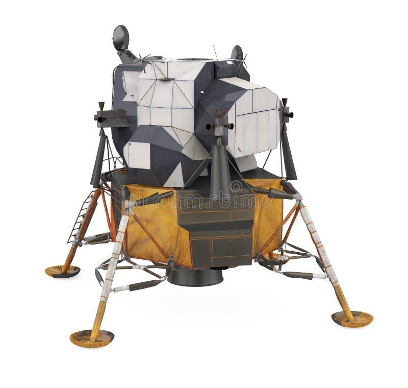 Apollo Lunar Module Isolated ilustração do vetor