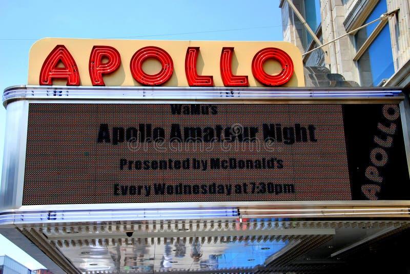 Apollo Markizy Nyc Theatre Obraz Stock Editorial