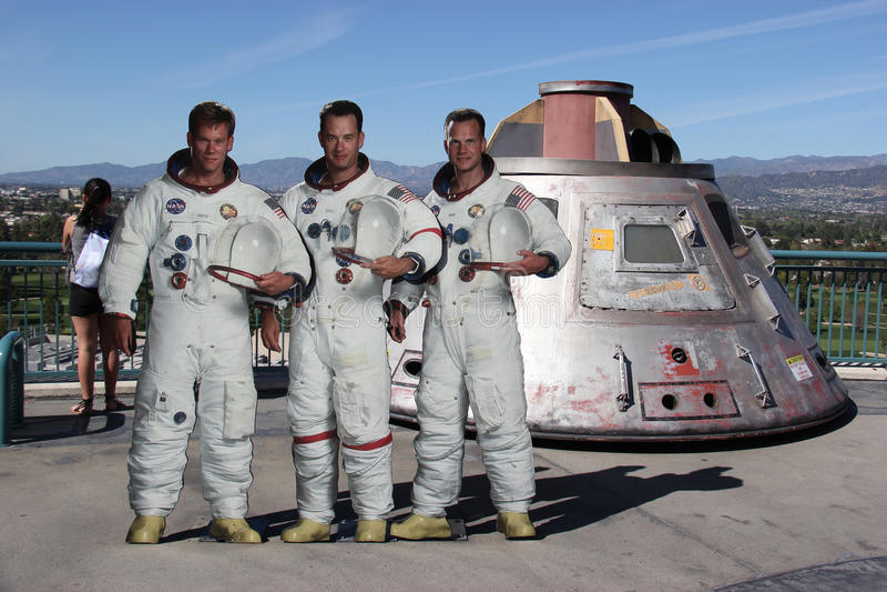 Apollo 13 model przy universal studio Hollywood zdjęcie stock