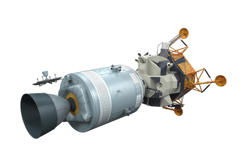 Apollo Module Docking royalty-vrije illustratie