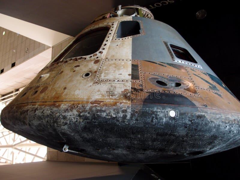 Apollo Moon Capsule e escudo térmico imagem de stock royalty free