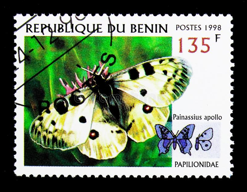 Apollo (Parnassius Apollo), serie de papillons, vers 1998 image stock