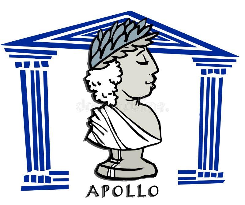 Apollo, phoebus, antieke god royalty-vrije illustratie