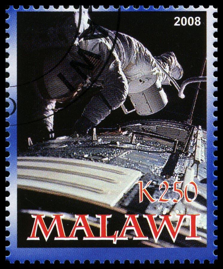 Apollo 17 Postzegel van Malawi royalty-vrije stock foto's