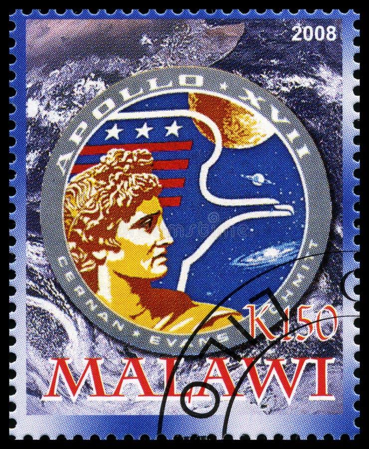 Apollo 17 Postzegel van Malawi royalty-vrije stock fotografie