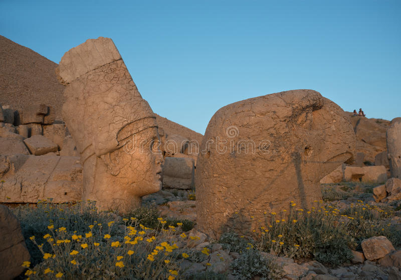Apollo and Ptah Gods on Nemrut Dag royalty free stock photo