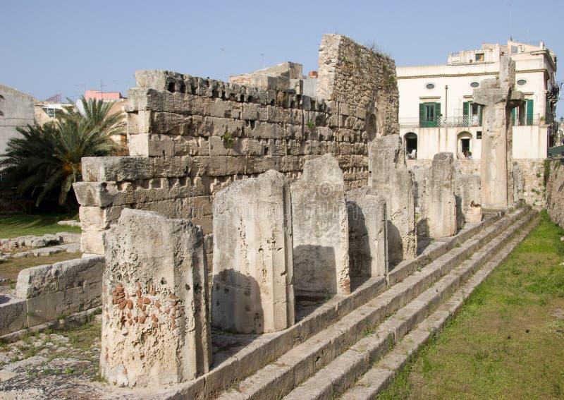 apollo s syracuse tempel royaltyfria foton