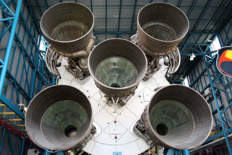 Apollo Saturn-V-Rakete lizenzfreie stockfotografie