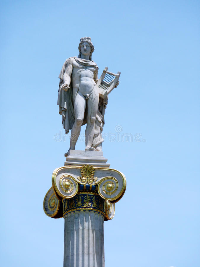 Download Apollo Statue On A Column Capital Stock Photo - Image: 14860814