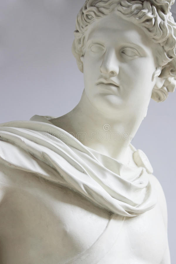 Apollo (statue). Apollo, Phoebus son of Zeus and Leto, brother of Artemis, the father of Orpheus, Lika, Asclepius and Miletus. One of the Olympian gods. God stock photography